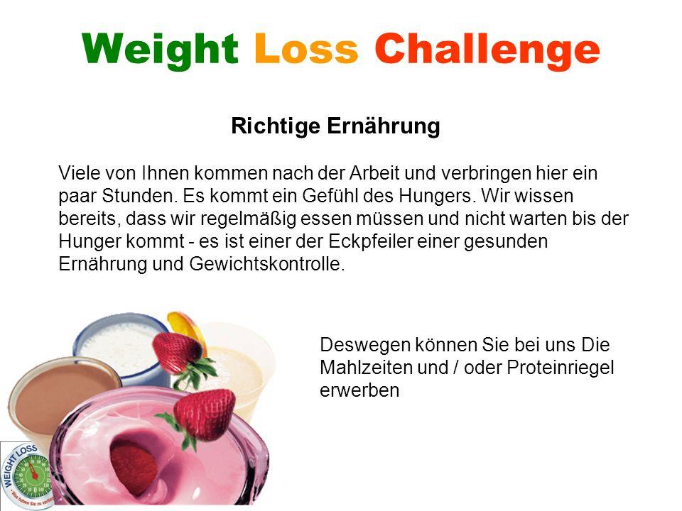 Weight Loss Challenge Richtige Ernährung