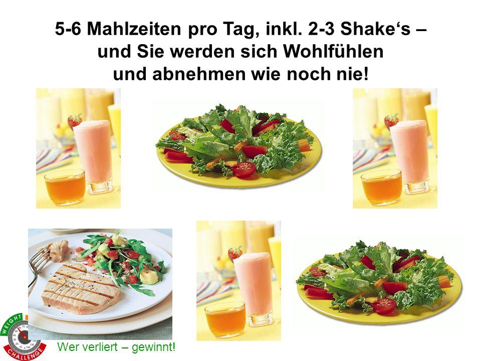 5-6 Mahlzeiten pro Tag, inkl