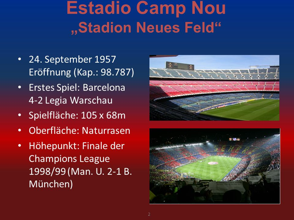 "Estadio Camp Nou ""Stadion Neues Feld"