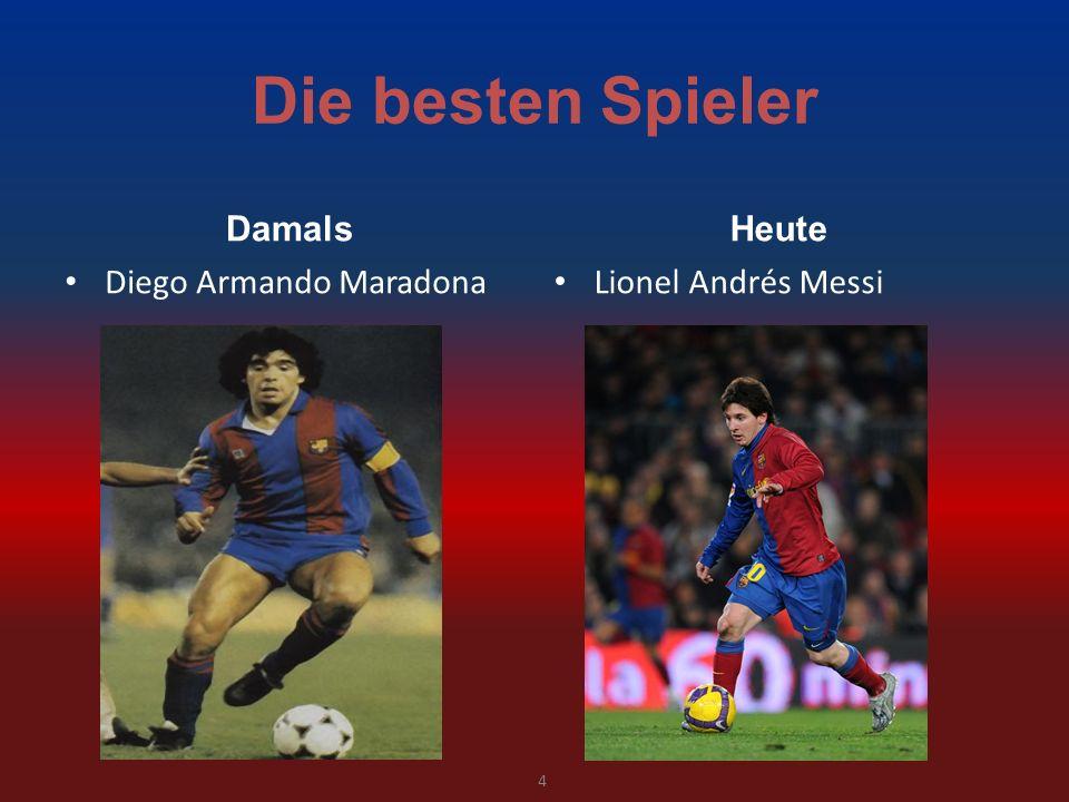 Die besten Spieler Damals Heute Diego Armando Maradona