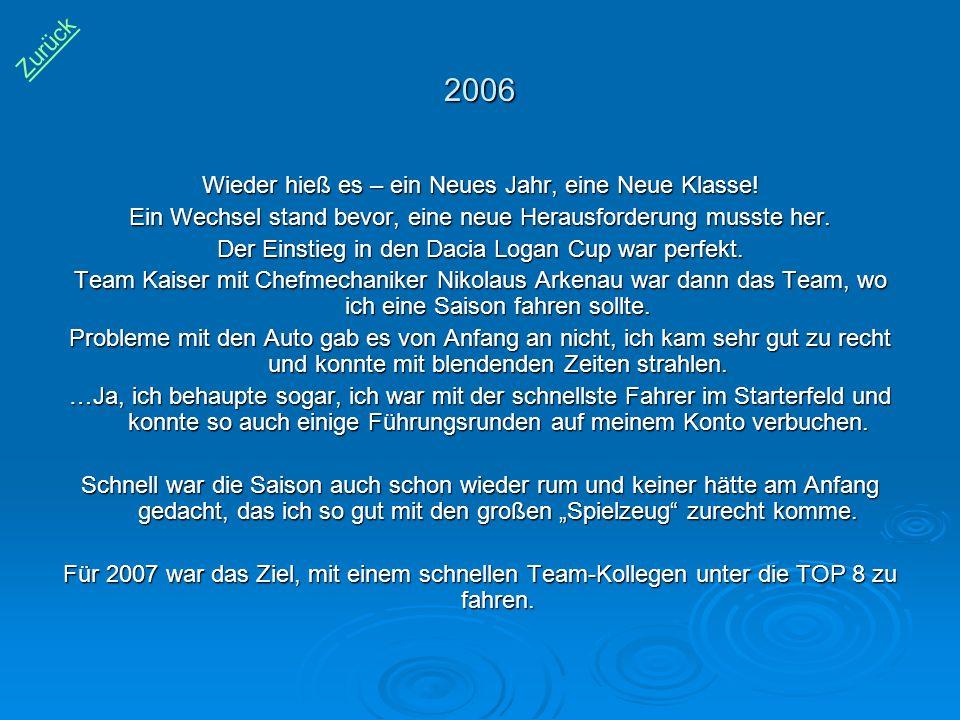 2006 Zurück Wieder hieß es – ein Neues Jahr, eine Neue Klasse!