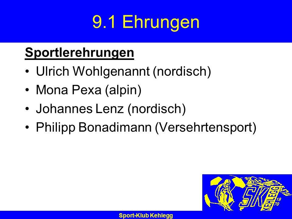 9.1 Ehrungen Sportlerehrungen Ulrich Wohlgenannt (nordisch)