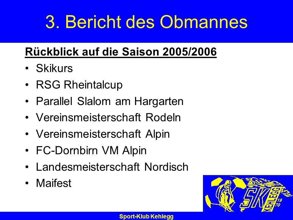 3. Bericht des Obmannes Rückblick auf die Saison 2005/2006 Skikurs