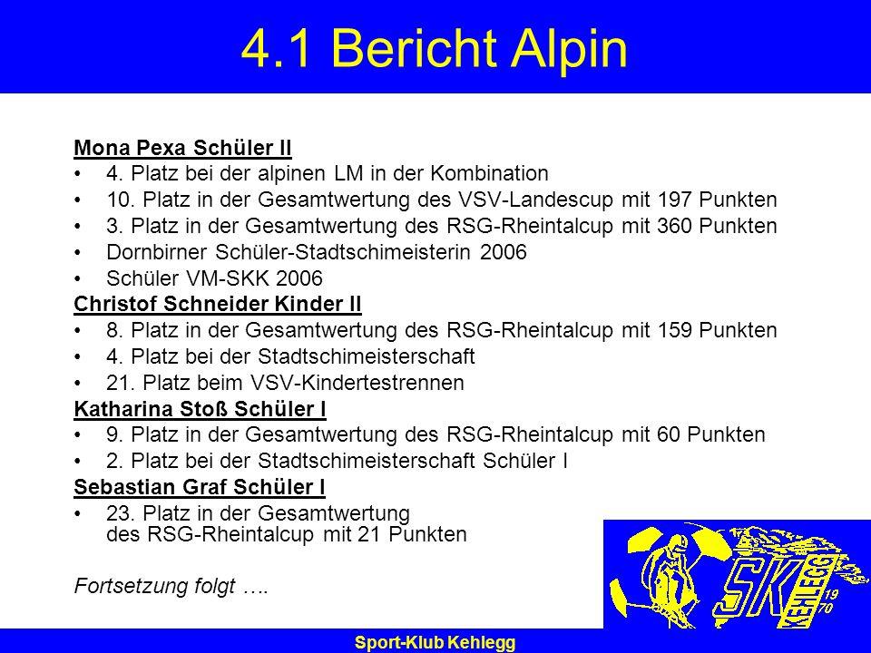 4.1 Bericht Alpin Mona Pexa Schüler II