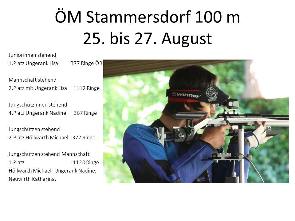 ÖM Stammersdorf 100 m 25. bis 27. August