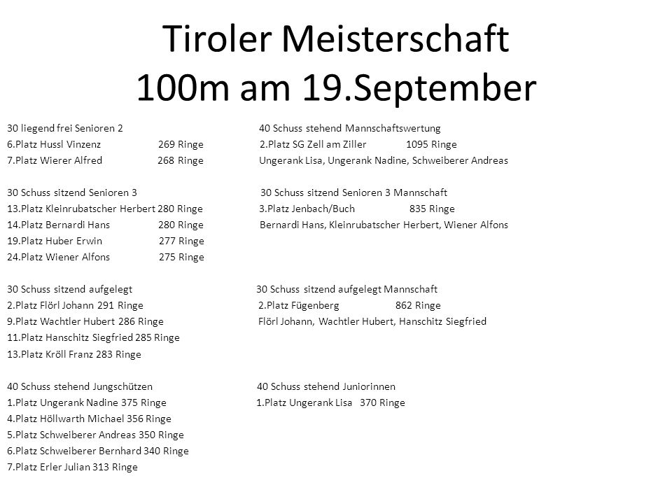 Tiroler Meisterschaft 100m am 19.September