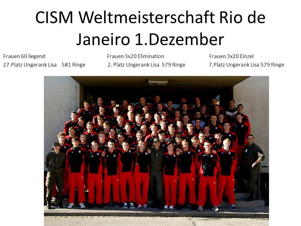 CISM Weltmeisterschaft Rio de Janeiro 1.Dezember
