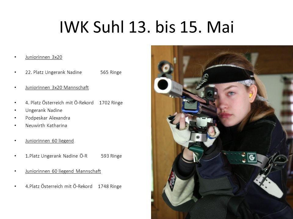 IWK Suhl 13. bis 15. Mai Juniorinnen 3x20