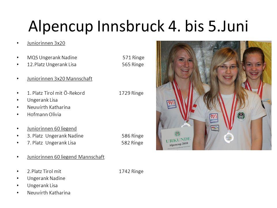 Alpencup Innsbruck 4. bis 5.Juni