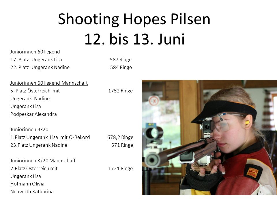Shooting Hopes Pilsen 12. bis 13. Juni