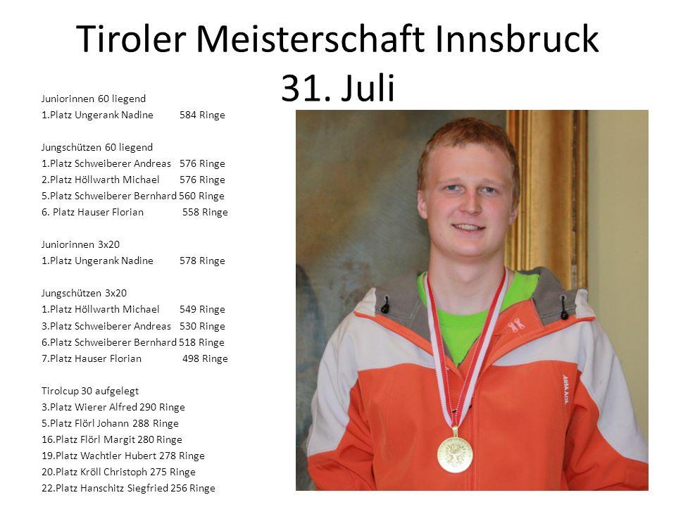 Tiroler Meisterschaft Innsbruck 31. Juli