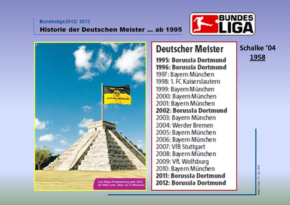 Historie der Deutschen Meister … ab 1995