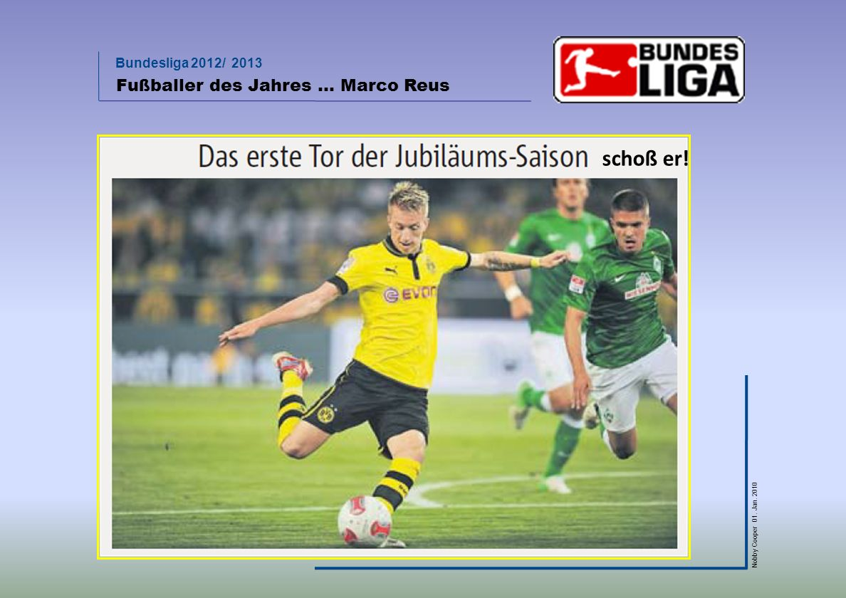 Fußballer des Jahres … Marco Reus