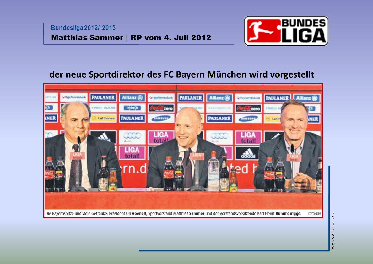 der neue Sportdirektor des FC Bayern München wird vorgestellt