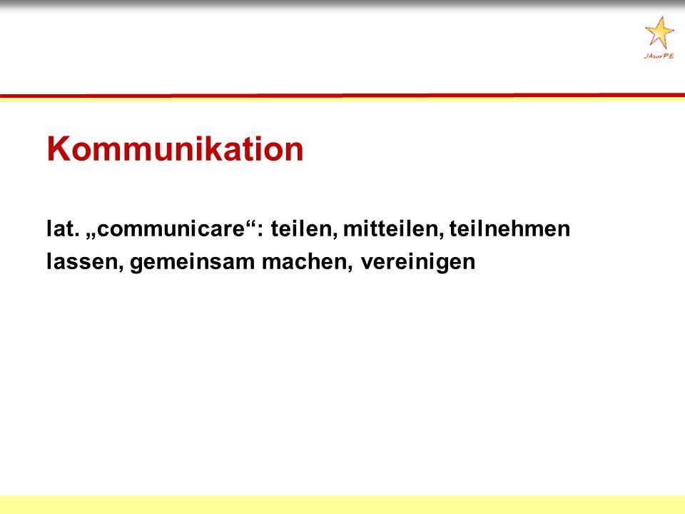 Kommunikation lat.