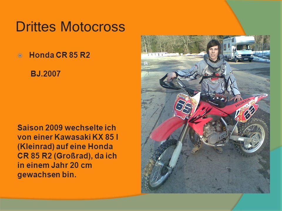 Drittes Motocross Honda CR85 R2 Honda CR 85 R2 BJ.2007