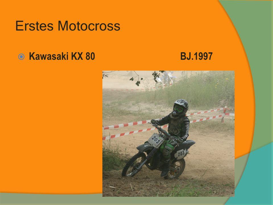 Erstes Motocross Kawasaki KX 80 BJ.1997