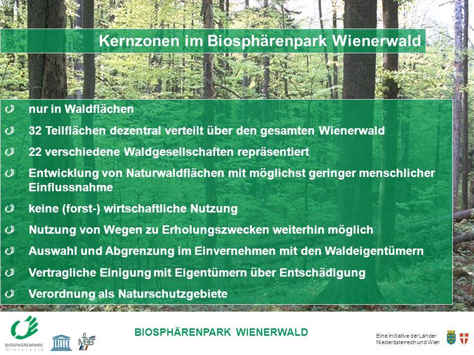 Kernzonen im Biosphärenpark Wienerwald