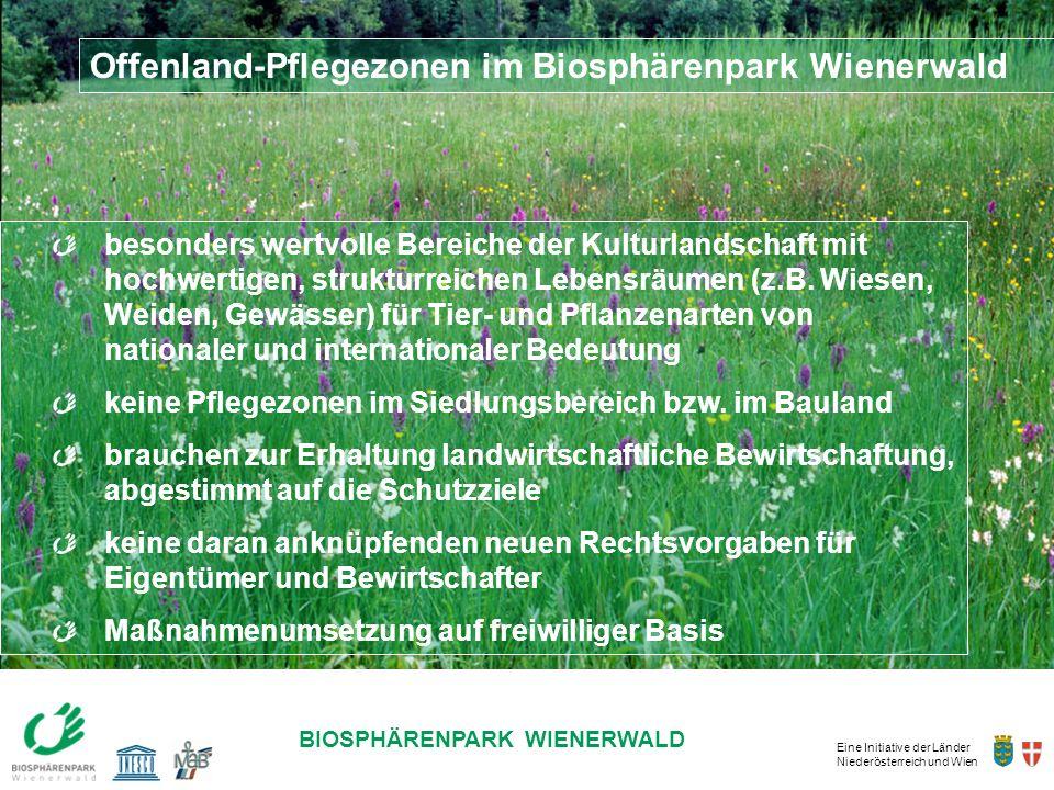 Offenland-Pflegezonen im Biosphärenpark Wienerwald