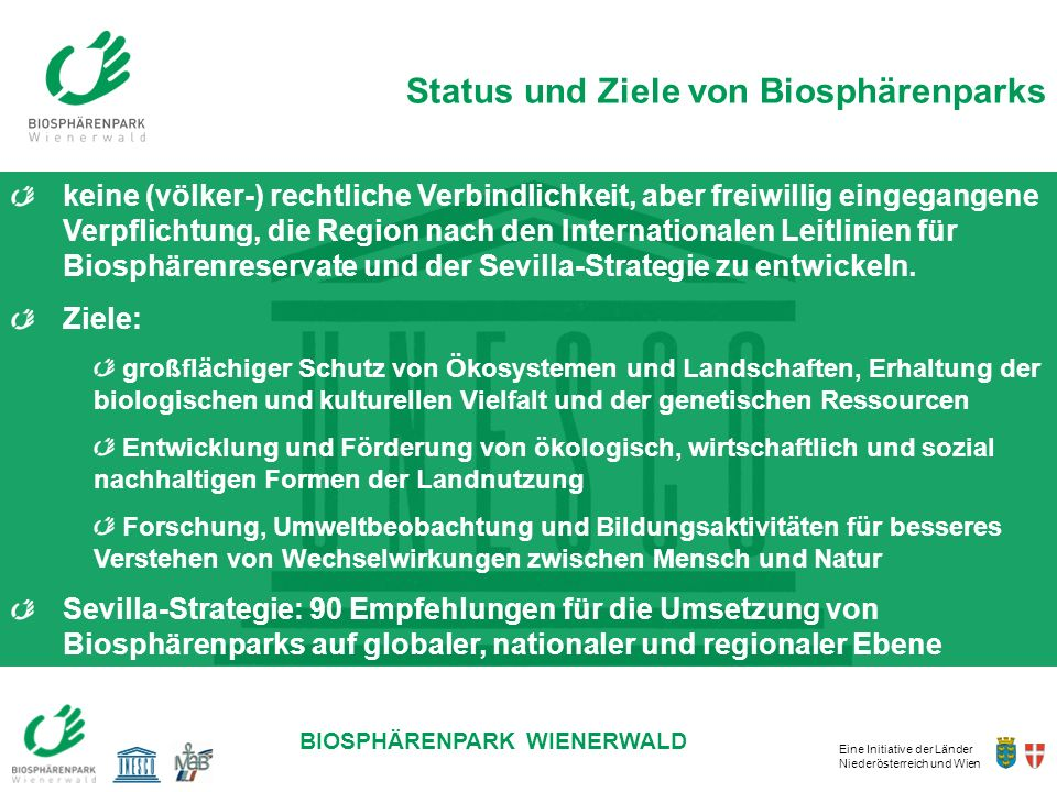 Status und Ziele von Biosphärenparks