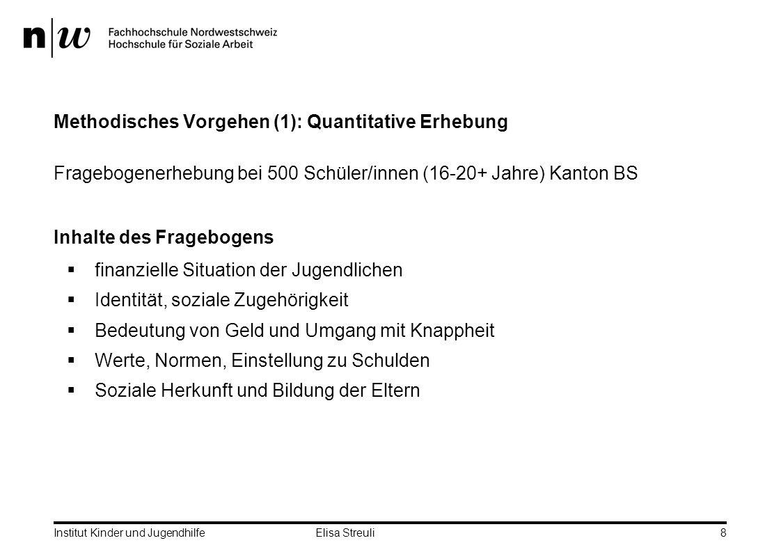 Methodisches Vorgehen (1): Quantitative Erhebung