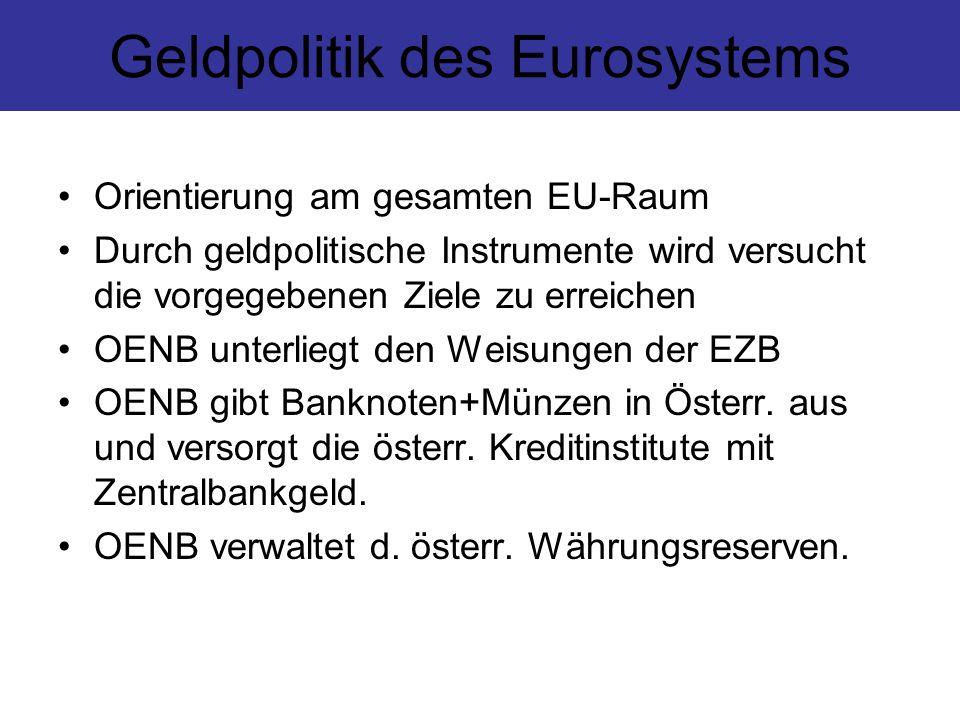 Geldpolitik des Eurosystems