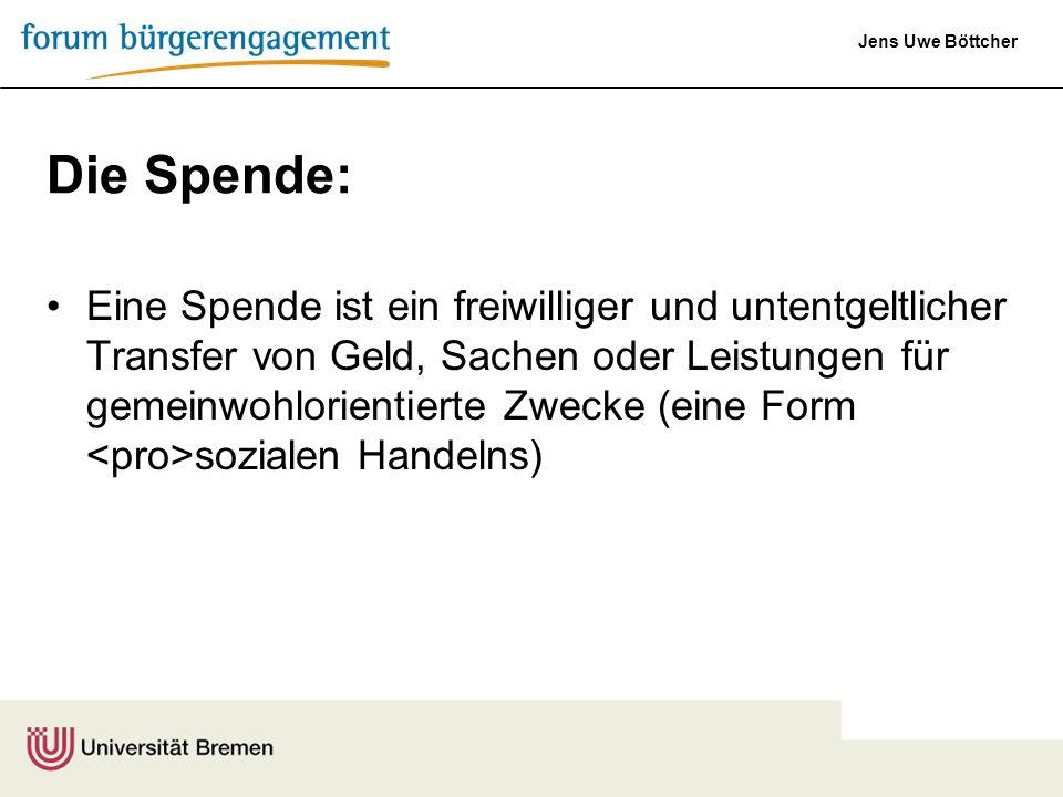 Die Spende:
