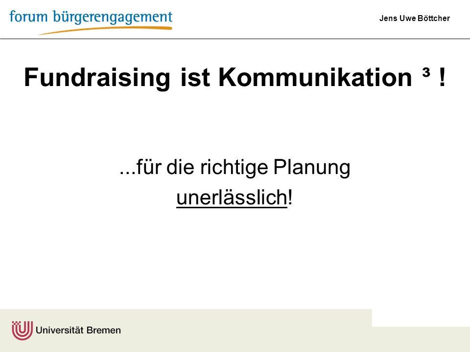 Fundraising ist Kommunikation ³ !