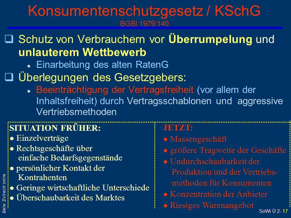 Konsumentenschutzgesetz / KSchG BGBl 1979/140