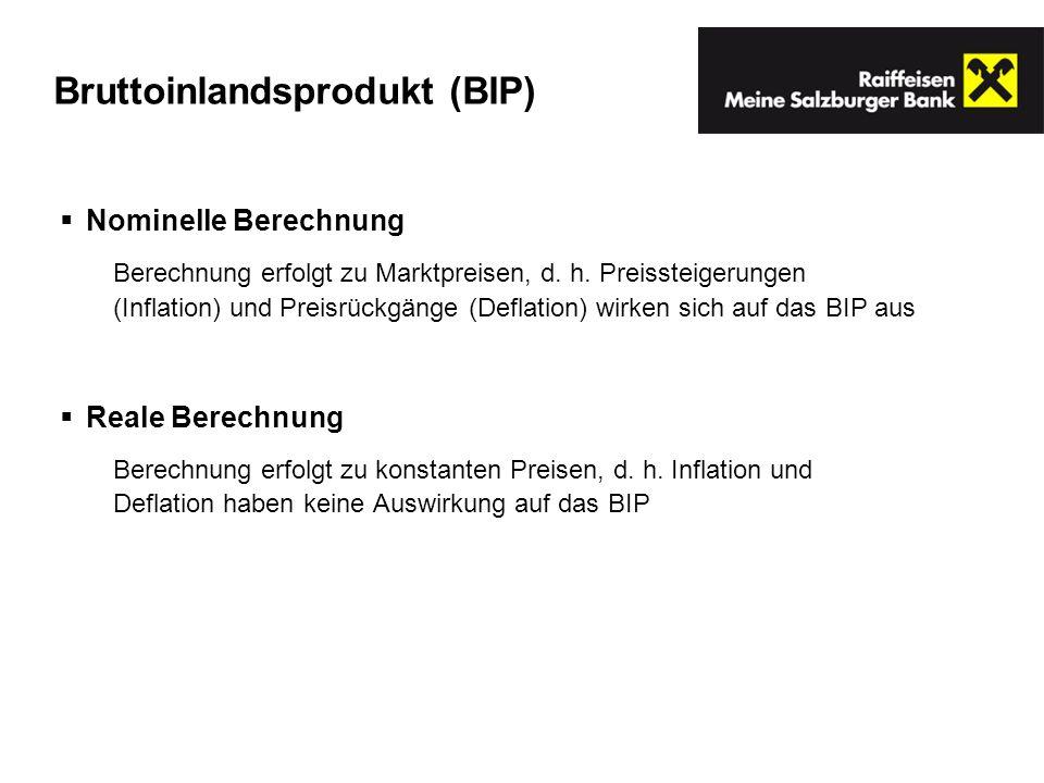 Bruttoinlandsprodukt (BIP)