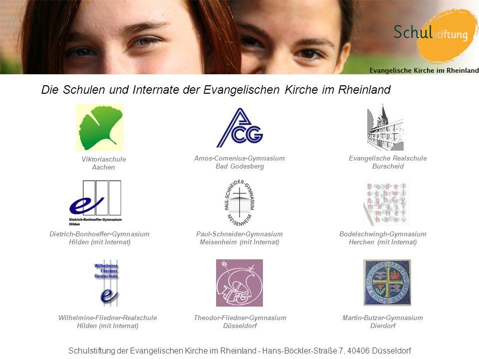 Die Schulen und Internate der Evangelischen Kirche im Rheinland