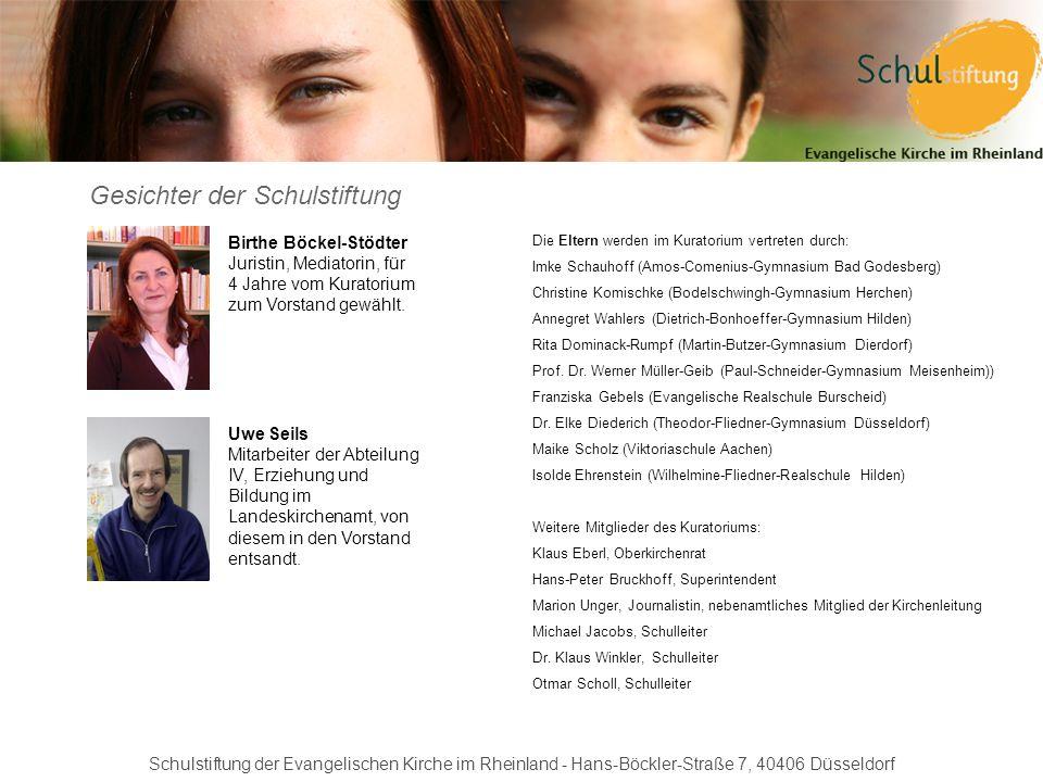 Gesichter der Schulstiftung