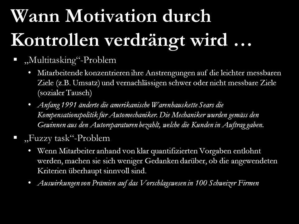Wann Motivation durch Kontrollen verdrängt wird …