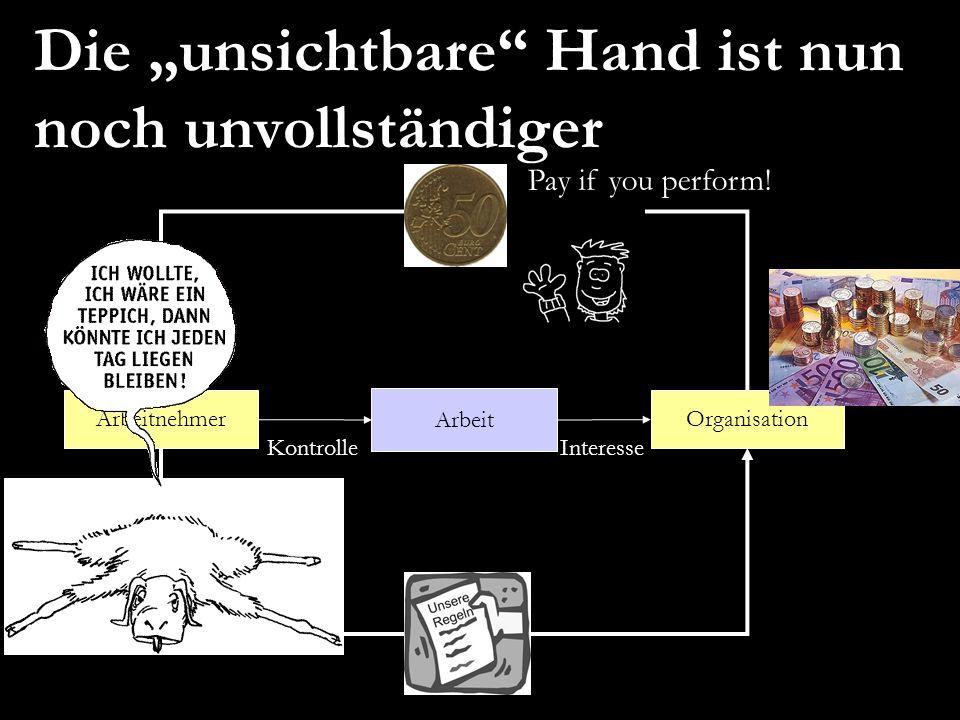 """Die """"unsichtbare Hand ist nun noch unvollständiger"""