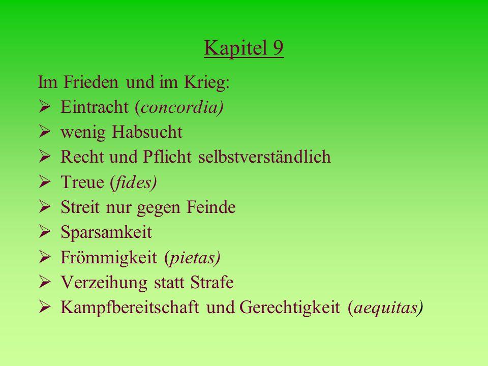 Kapitel 9 Im Frieden und im Krieg: Eintracht (concordia)