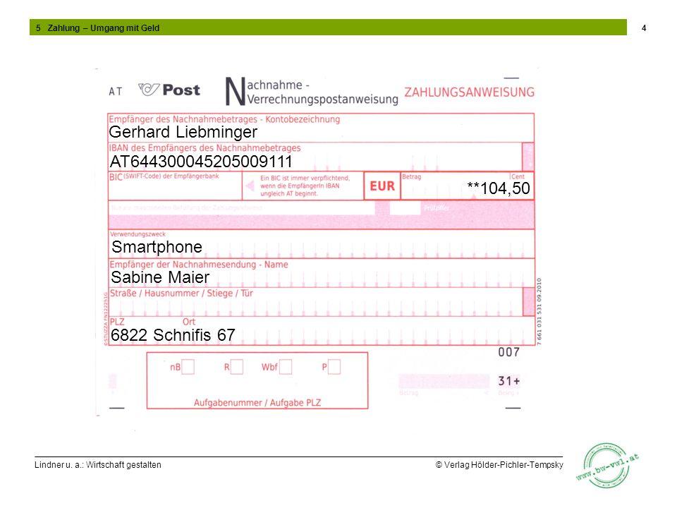 Gerhard Liebminger AT644300045205009111 **104,50 Smartphone