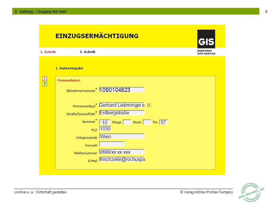 1090104823 Gerhard Liebminger e. U. Erdbergstraße 10 57 1030 Wien