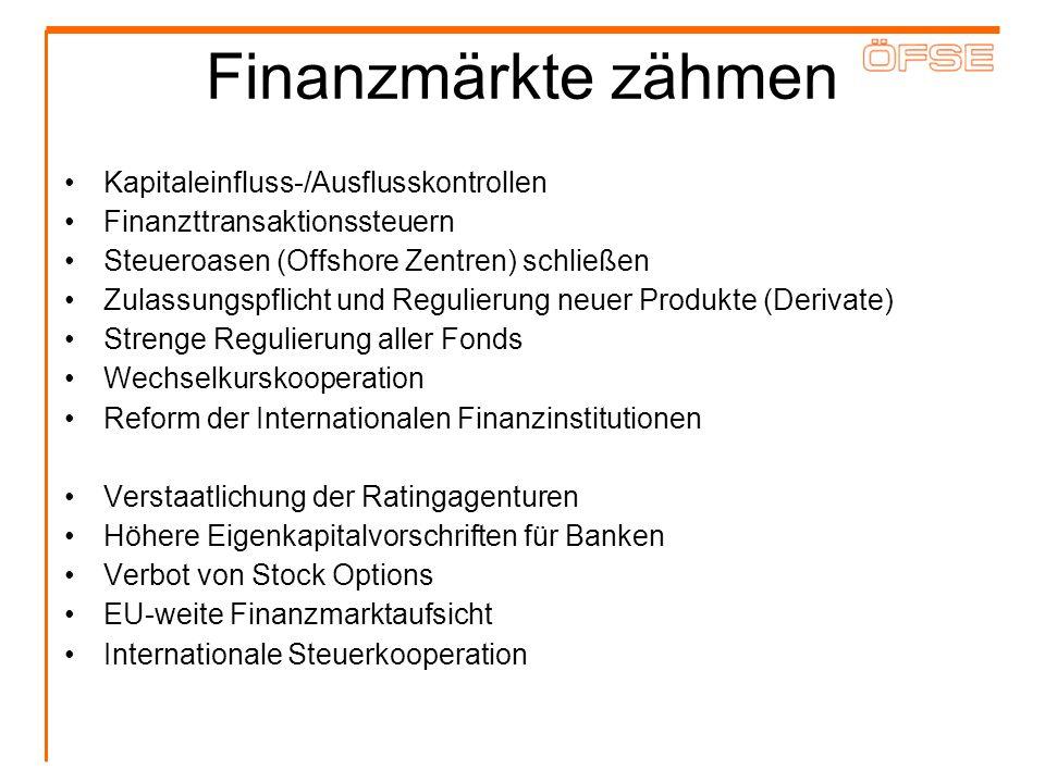 Finanzmärkte zähmen Kapitaleinfluss-/Ausflusskontrollen