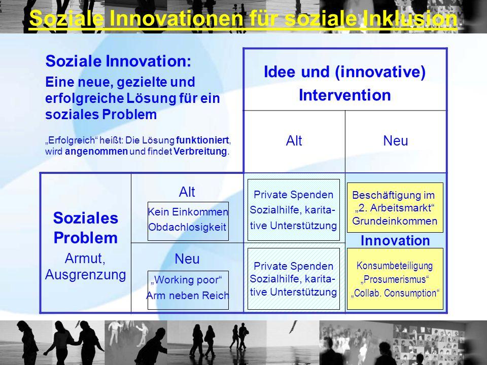 Soziale Innovationen für soziale Inklusion