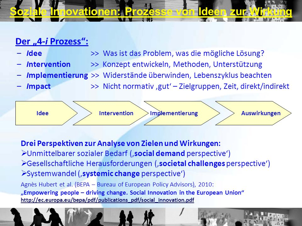 Soziale Innovationen: Prozesse von Ideen zur Wirkung