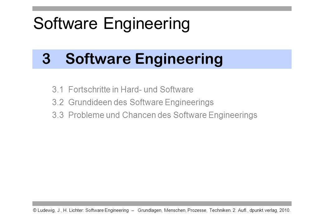 3 Software Engineering