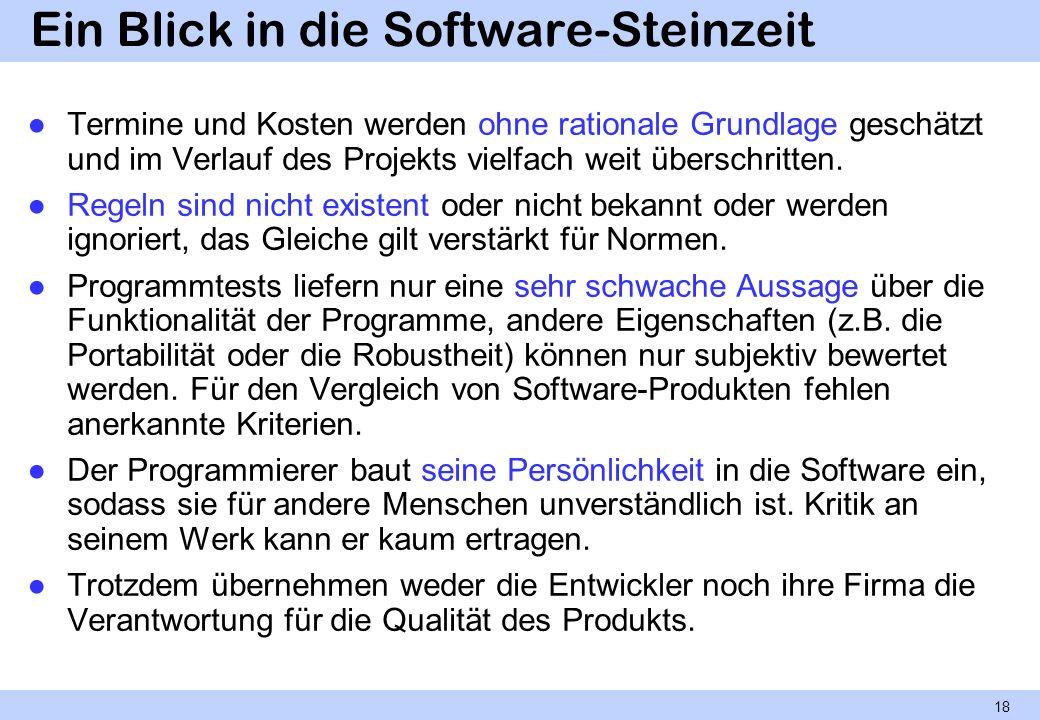 Ein Blick in die Software-Steinzeit