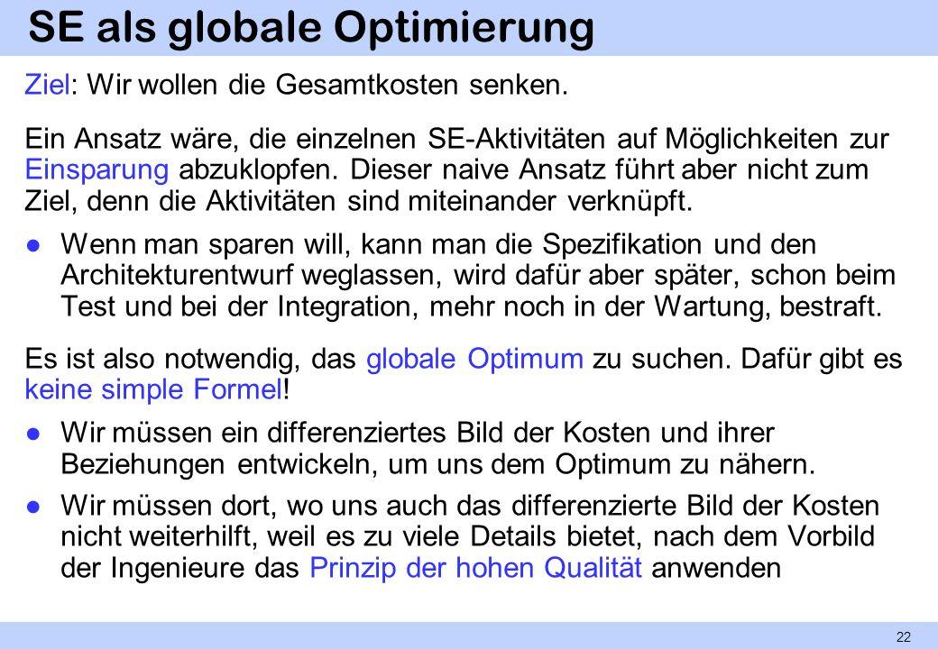 SE als globale Optimierung