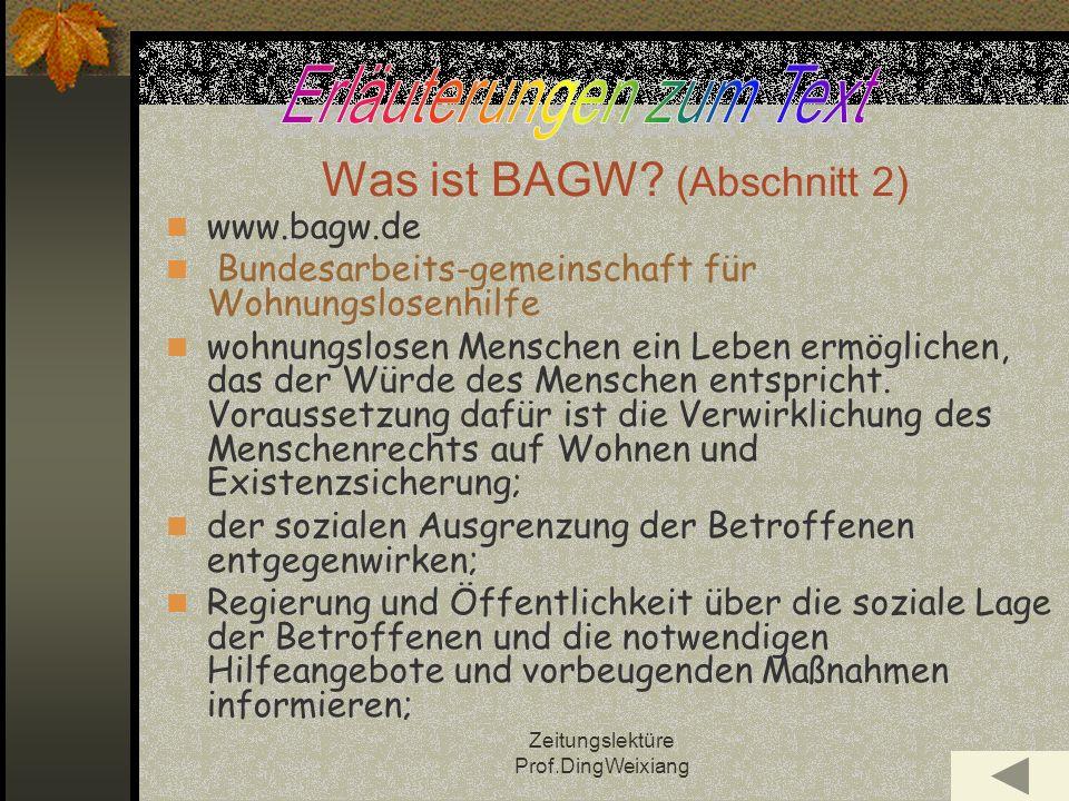 Was ist BAGW (Abschnitt 2)