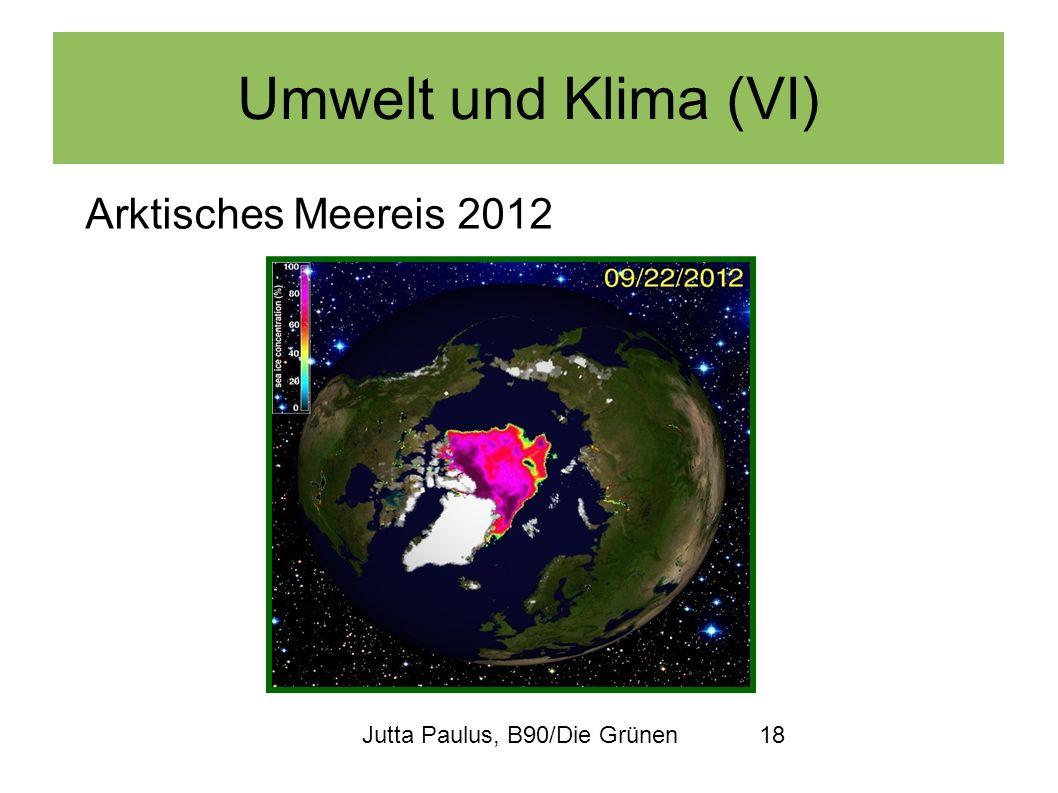 Umwelt und Klima (VI) Arktisches Meereis 2012
