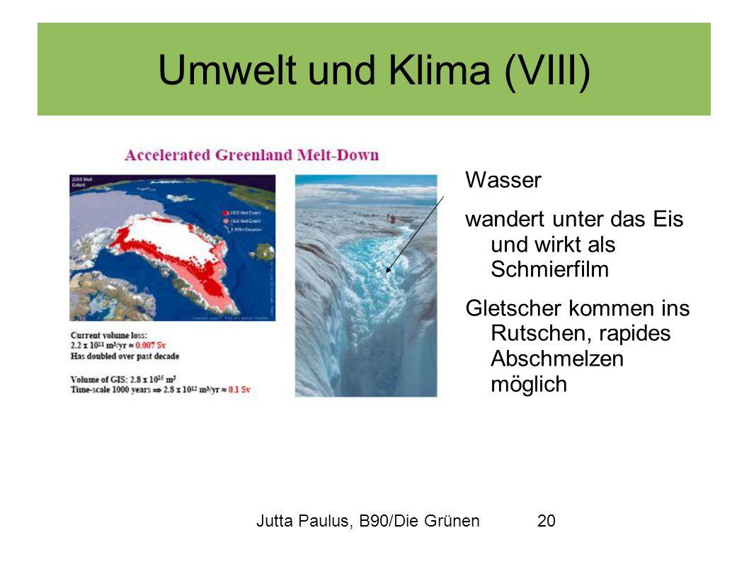 Umwelt und Klima (VIII)