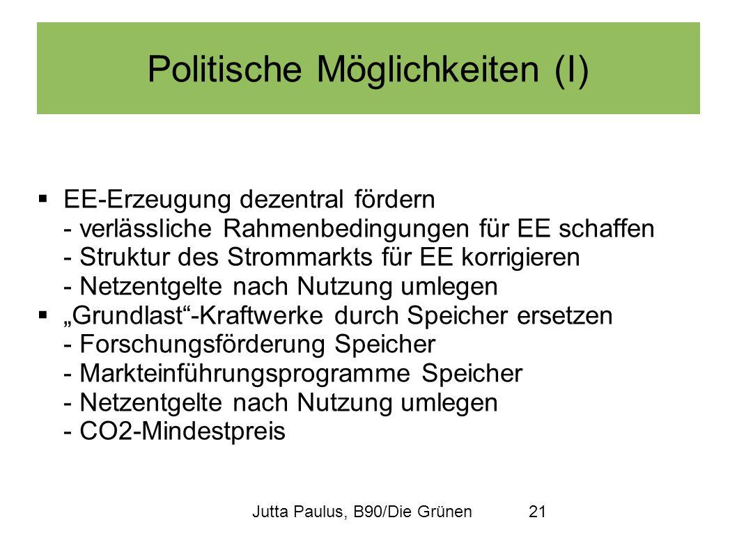 Politische Möglichkeiten (I)