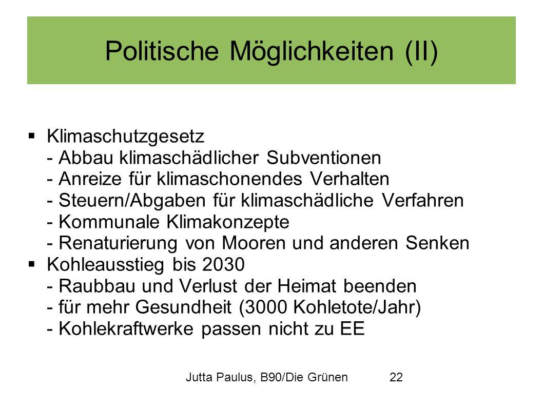 Politische Möglichkeiten (II)