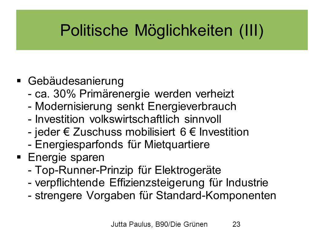 Politische Möglichkeiten (III)