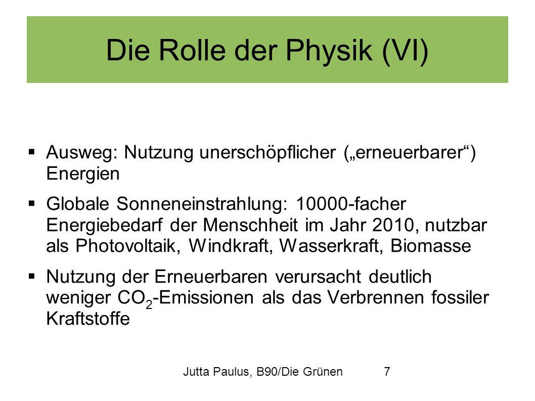 Die Rolle der Physik (VI)
